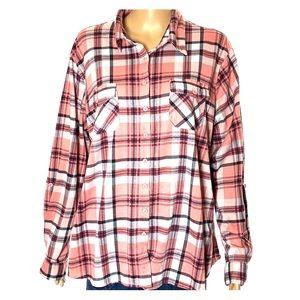 Plus Size Button Down Flannel